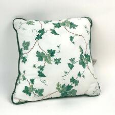 "WAVERLY Home Fashion ENGLISH IVY Lane THROW Pillow 16"" White GREEN Vines LEAVES"