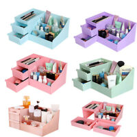 Makeup Storage Box Cosmetic Jewel Case Container Organizer Desktop With Drawer