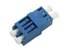 LC Duplex SM Adaptor, Blue Housing with Zirconia sleeve