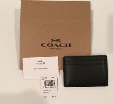 NEW Coach Men's Money Clip Card Holder Case Wallet Leather Black F75459 + BOX