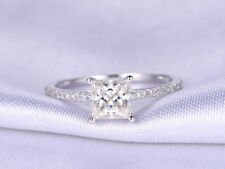 1.13 Ct Diamond Engagement Ring Real 9k White Gold Rings Wedding Ring Size M