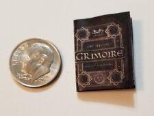"Miniature dollhouse Halloween book  1/12 Scale   1"" Grimiore Buffy Vampire"