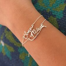 Personalized Handwriting Bracelet -Signature Bracelet -925 sterling silver