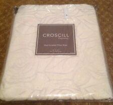 Croscill Home Romance Reversible Euro Pillow Sham Cream Burgundy Red New Nip $85