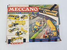 Meccano Highway Vehicles Set 3 Complete Vintage Construction Toy Set
