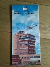 Vintage Map ESSO Guide To London (Heathrow) Airport 1962