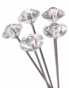 "144 pcs 1.5"", 2"", 2.5"" Diamond  Wedding Corsage Bouquet Pins"