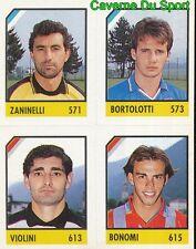 150 ZANINELLI - BORTOLOTTI - VIOLINI BONOMI CARD CARTA CALCIO QUIZ VALLARDI 1991