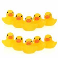 10pcs amarillo del bebé niños Juguetes para el baño lindo pato goma