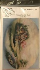 New ListingVintage Tole Painting Pattern Packet: Scene on an Oval by Delane Lange