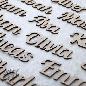 Script Names Letters Words Personalised   Book Art Wood MDF