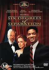 SIX DEGREES of SEPERATION (Stockard CHANNING Will SMITH Donald SUTHERLAND) DVD