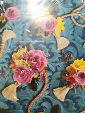 Forget-me-not American Greeting Gift Wrap Paper Lot Of 4 Sheets Floral Blue rope