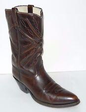 Acme Vtg Brown Leather Stock Show Cowboy Boots Mens Sz 12B