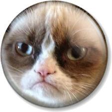 "Grumpy Cat Face 25mm 1"" Pin Button Badge Internet Meme Funny Pet Humour Close Up"