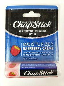 CHAPSTICK Moisturizer Raspberry Creme, SPF 15, RARE!!! Brand New In Package. DSC