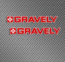 """2x GRAVELY TRACTOR size 7"""" vinyl sticker decals logo graphic lawn mower, deck,"""