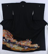 黒留袖 Kurotomesode Tsuru - Made in Japan 1304