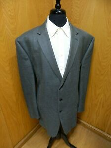 Mens Blazer Sport coat Jacket Joseph Abboud 54L Dark Gray Micro Weave   N-#102