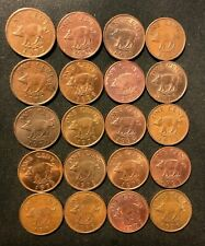 Old Bermuda Coin Lot - 20 Low Mintage High PIG Coins - Lot Y2