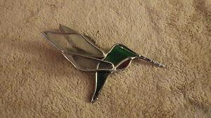 "Humming Bird Window Prizm Hanging Decor Animal 5 1/2"" x 3"" Metal"