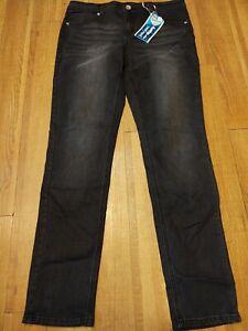 Justice Girl's Juniors Denim Super Skinny Jeans Jegging Black Size 16.5 NWT