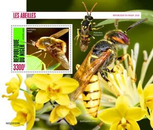 Niger Bees Stamps 2020 MNH Bee Fly Beewolf Wasps Insects 1v S/S