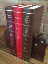 x3 Readers Digest Condensed Books (UK) Coloured Leather Hardback (Props,Display)
