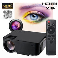 5000 Lumens Mini LED LCD Projector 1080P Home Theater Cinema VGA HDMI USB SD AV
