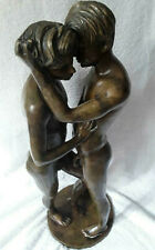 Vintage Bronze Male Figure -  Nude Boy Youth - Erotic Sculpture - Gay Interest