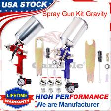1.4/1.7/2.5MM Boquilla Pulverizador de pistola Alimentación por Gravedad Hvlp Cartilla De Metal Flake nos Regulador