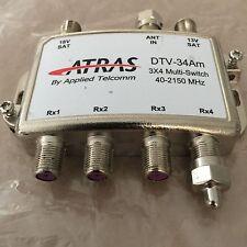 3 x 4 MultiSwitch Diplexer Signal Separator Satellite Cable TV ATRAS