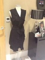 per unaspecial black frill dress size 10