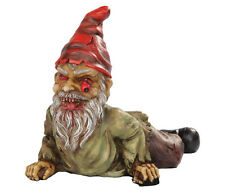 Zombie Gnome Scary Undead Statue Crawling Halloween Figurine Zombi Gnomo Duende
