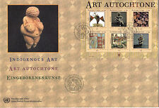 UNITED NATIONS 2004 INDIGENOUS ART O/S FIRST DAY COVER GENEVA SHS