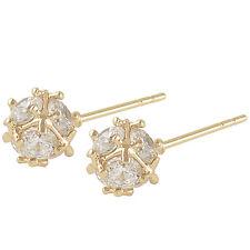 Shiny 14K Solid Gold Filled Cubic Zirconia Megic Ball Stud earing Free Shipping