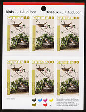 Canada 2040a Booklet MNH Birds, Audubon Art