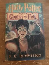 J. K. Rowling's Harry Potter and the Goblet of Fire Hardcover 2000