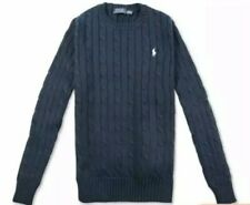 Ralph Lauren cable knit jumper Blue faded look  UK  Size XL New with tags