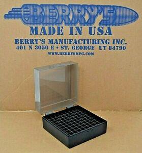 .223 / 556  ammo case / box 100 round (SMOKE / BLACK) 222 223 556 Berry's mfg
