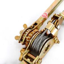 4400lb 2 Ton Hand Lever Puller Come Along Double Hooks Cable Hoist Ratchet