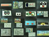 KAPSEL: Versch. Beipackzettel BPZ & Folienaufkleber AKF D 1986 - 1992 z. Auswahl
