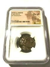 Attica, Athens 440-404 BC Ancient Greece AR Tetradrachm NGC Ch VF #21421