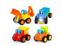 Huile Friction Powered Car Toys Tractor Bulldozer Mixer Truck Dumper