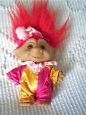 """TROLL DOLL by ACE NOVELTY CO. SHE A GIRL TO ME? 5"""" TALL NOT COUNTING HAIR L@@K"""