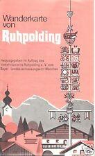 Wanderkarte von Ruhpolding, 1980