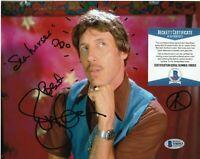 JON GRIES SIGNED NAPOLEON DYNAMITE UNCLE RICO 8X10 PHOTO N4 BECKETT BAS COA