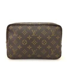 Authentic Louis Vuitton Monogram Trousse Toilette 23 Cosmetic Pouch Purse/40563