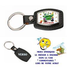 porte clé simili cuir auto bucolique personnalisé avec prénom choix réf 06