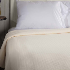 SERENITY Creme King Cotton Woven Blanket/Coverlet Farmhouse Bedding VHC Brands